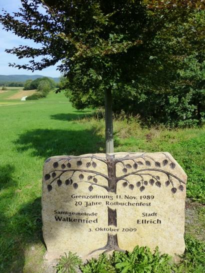 Gedenkstein zur Grenzöffnung zwischen Ellrich (Thüringen) und Walkenried (Niedersachsen)