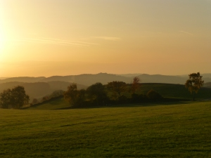 Sonnenuntergang zwischen Arnsberg und Menden (Sauerland)