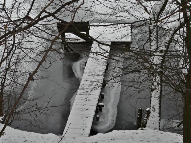 Menden, Eis auf dem Ententeich