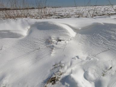 Schneeverwehungen bei Menden-Bösperde