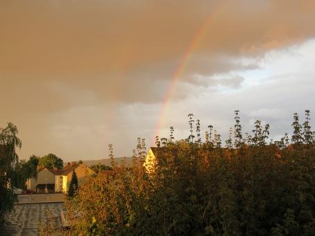 Regenbogen am 07.08.13