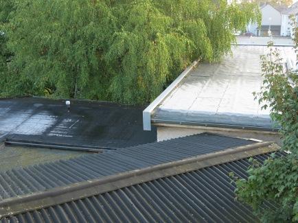 Raureif auf den Dächern; 27.09.13