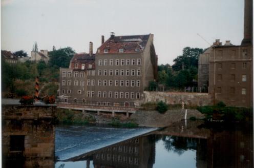 von Görlitz über die Neiße auf Zgorzelec; 3.10.91