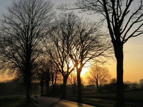 Sonnenuntergang oberhalb von Altendorf