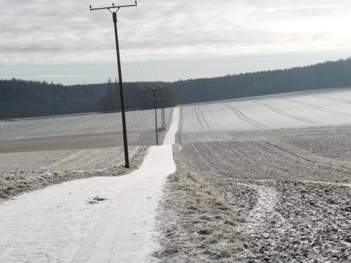 leicht winterlich bei Menden/Sauerland-Hembrock; 3.1.2009