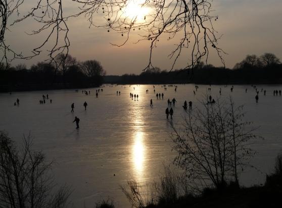 zugefrorener Aasee in Münster; 07.02.2012