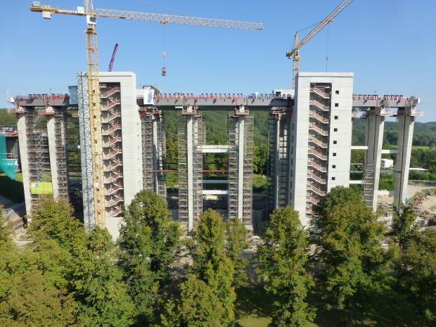 Baustelle neues Schiffshebewerk Niederfinow