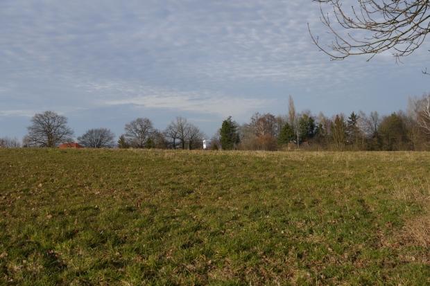 von Südwesten über Hembrock auf Marienkirche Platte Heide