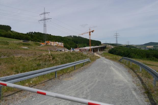 A46-Baustelle oberhalb Bestwig