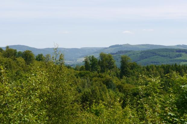 vom Arnsberger Wald vor Föckinghausen  über Ruhrtal nach Südosten