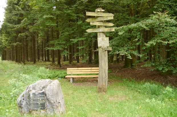 alter Wegweser-Stein etc. auf dem Gemeinheitskopf