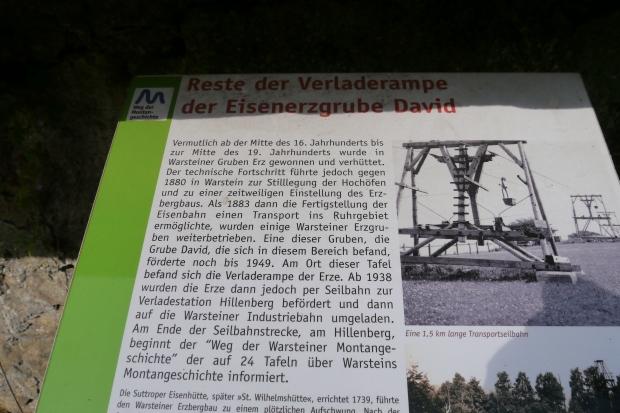 Warstein, Reste der Verladerampe der Eisenerzgrube David