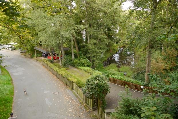 Bahntrassenradweg Iserlohn über der Parkstr. und neben Wermingser Bach