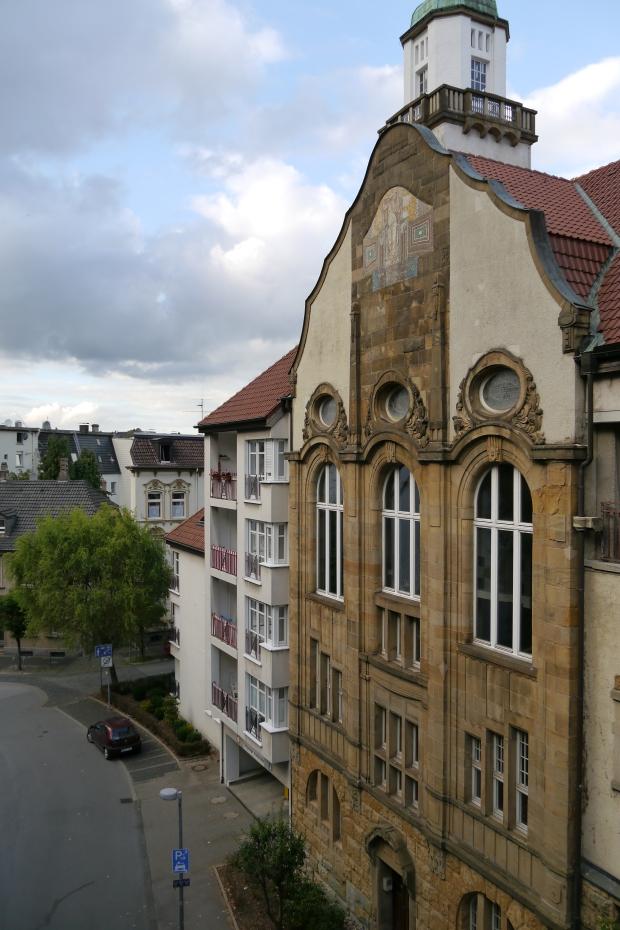 Iserlohn, von Poth-Brücke auf altes Stadtbad und mittlere Inselstr.