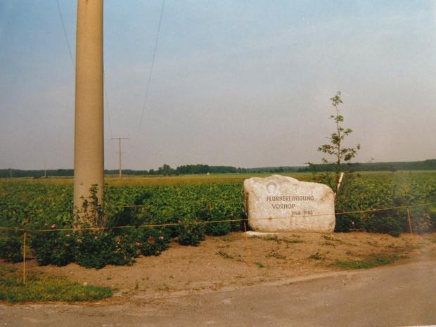 Gedenkstein Flurbereinigung Vorhop