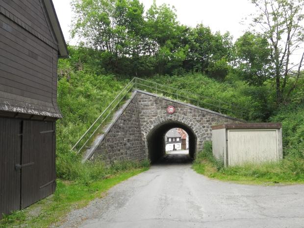 Ex-Bahndamm mit Tunnel bei Züschen